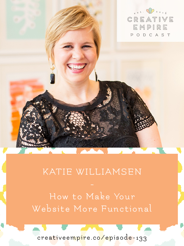 Katie on the Creative Empire Podcast